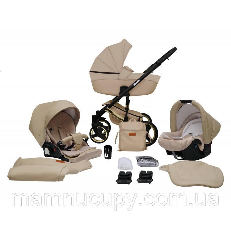 Детская универсальная коляска 2 в 1 Mikrus Comodo Gold 15