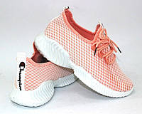 Трикотажные стрейчевые лёгкие женские кроссовки