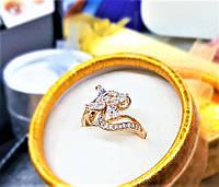 Кольцо Эвет 18к позолота Xuping медзолото