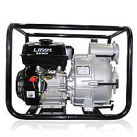 Бензиновая мотопомпа для грязной воды Lifan 80WG (80 мм, 66 м³/час, 6,5 л.с)