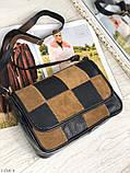 Сумка женская кожаная через плечо сумочка натуральная кожа цветная, фото 6