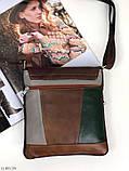 Сумка планшет женская кожаная через плечо сумка кроссбоди натуральная кожа, фото 3