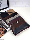 Сумка планшет женская кожаная через плечо сумка кроссбоди натуральная кожа, фото 4