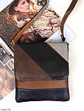 Сумка планшет женская кожаная через плечо сумка кроссбоди натуральная кожа, фото 6