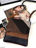 Сумка планшет женская кожаная через плечо сумка кроссбоди натуральная кожа, фото 7