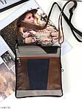 Сумка планшет женская кожаная через плечо сумка кроссбоди натуральная кожа, фото 8