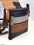 Сумка планшет женская кожаная через плечо сумка кроссбоди натуральная кожа, фото 9