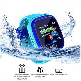 Детские водонепроницаемые смарт-часы DF25 Aqua (WIFI Edition) Синие