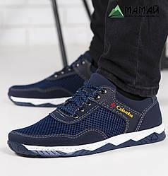Кросівки чоловічі сітка сині