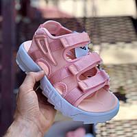 Женские сандалии\босоножки в стиле Fila Disruptor Sandals Pink White