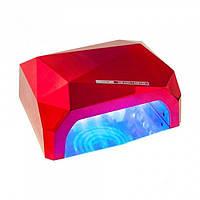 УФ лампа для наращивания ногтей на 36 Вт Beauty nail CCF + Led сенсор гель, лак Красная
