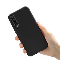 Чехол силиконовый для Samsung Galaxy A90 черный (самсунг галакси а90)