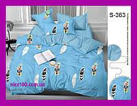 Двуспальный комплект постельного белья из хлопка на молнии Двоспальний комплект постільної білизни  S363