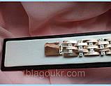 Браслет мужской серебряный с накладками золота длина 20 см (21,5 см), фото 5