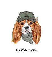 Стильная термонаклейка для одежды с рисунком собаки