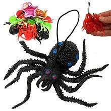 Подвесной резиновый паук игрушка Тарантул 10 шт