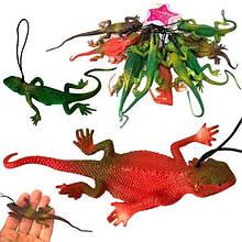 Подвесная резиновая игрушка Ящерица 10 шт