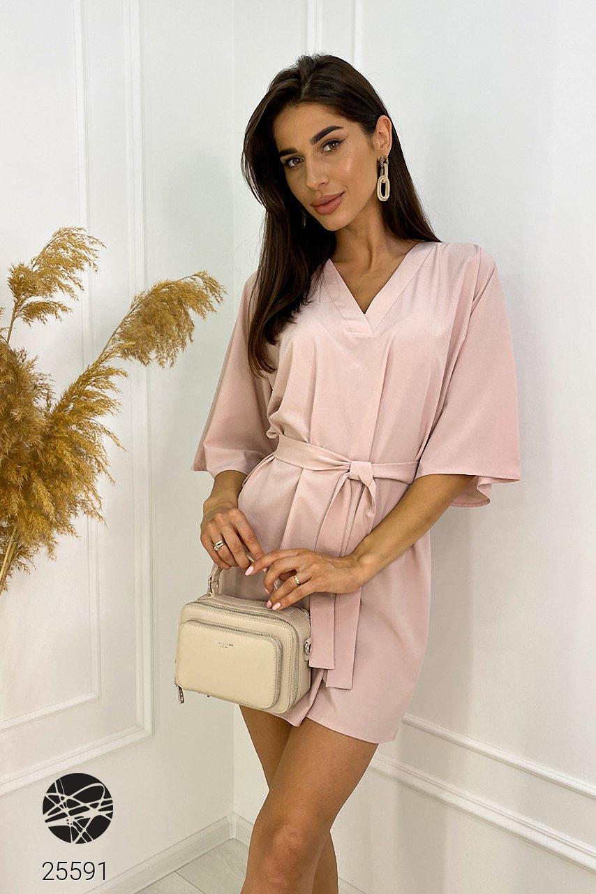 Платье летнее розовое. Модель 25591