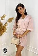 Платье летнее розовое. Модель 25591, фото 1
