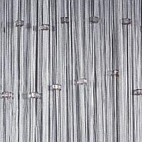 Шторы нити Серые со стеклярусом, фото 1
