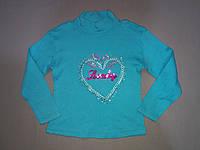 Бирюзовый реглан свитшот тёплый на байке для девочки 6, 7, 8 лет, фото 1
