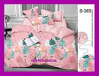 Двуспальный комплект постельного белья из хлопка на молнии Двоспальний комплект постільної білизни  S365