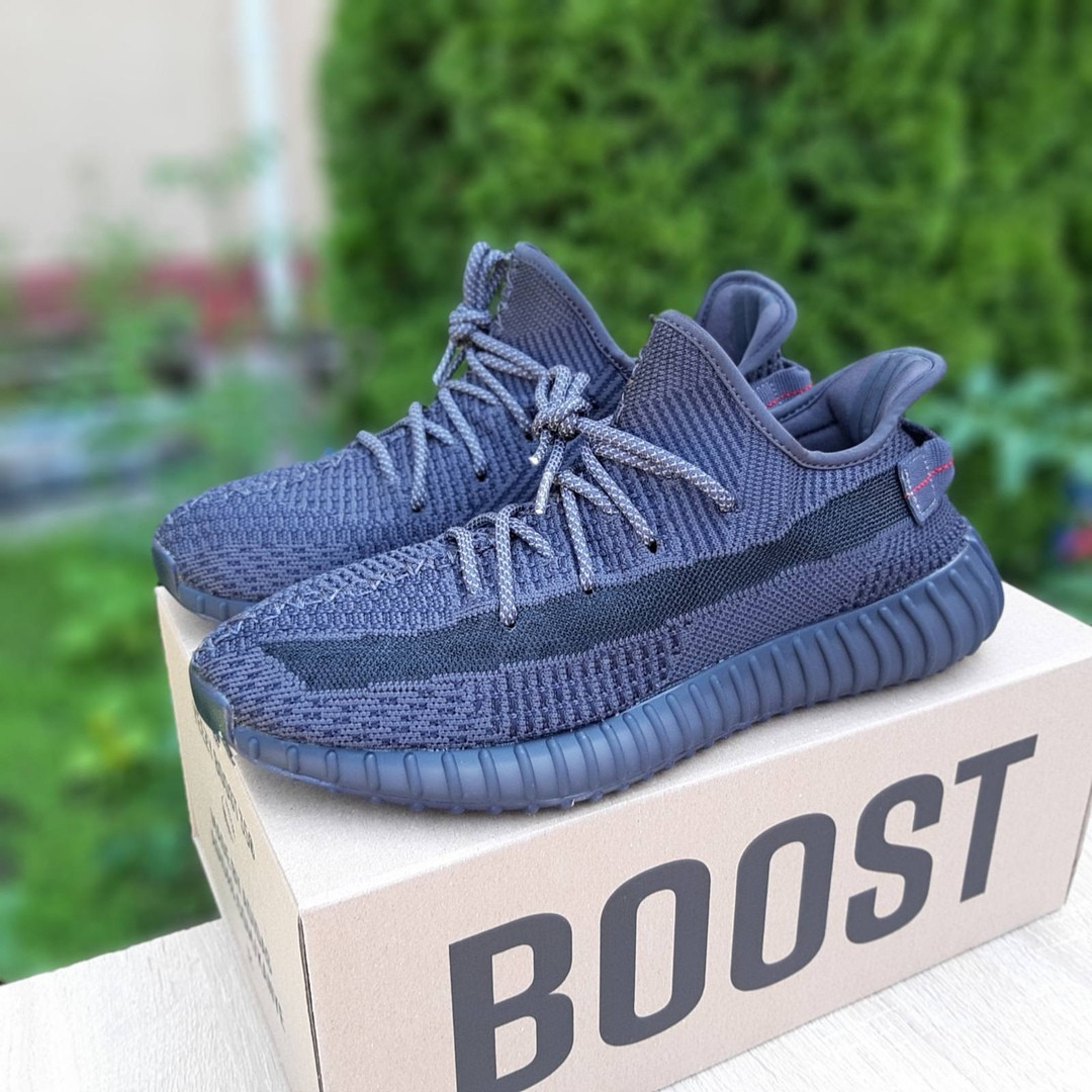 Чоловічі кросівки Adidas Yeezy Boost 350 V2 (чорні) - 10212