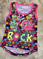 """Майка детская для девочки """"Rock"""" 5-8 лет,цвет уточняйте при заказе"""