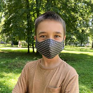 Маска детская защитная многоразовая тканевая многослойная фильтр  (Сертифицированая))