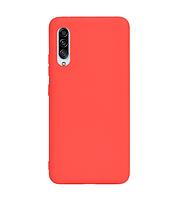Чехол силиконовый для Samsung Galaxy A90 красный (самсунг галакси а90)