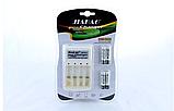 Комплект Зарядное + батарейки микро-пальчик удобное зарядное устройство JIABAO 212AAA 3279, фото 4