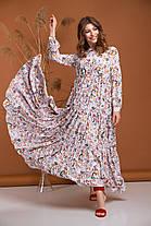 Миле біле плаття максі летить легке дуже красиве з віскози від 42 до 50, фото 2
