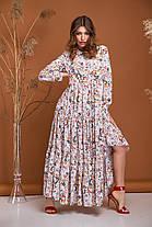 Миле біле плаття максі летить легке дуже красиве з віскози від 42 до 50, фото 3