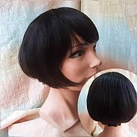 Парик из натуральных волос боб-каре шоколадный LEONA- 2