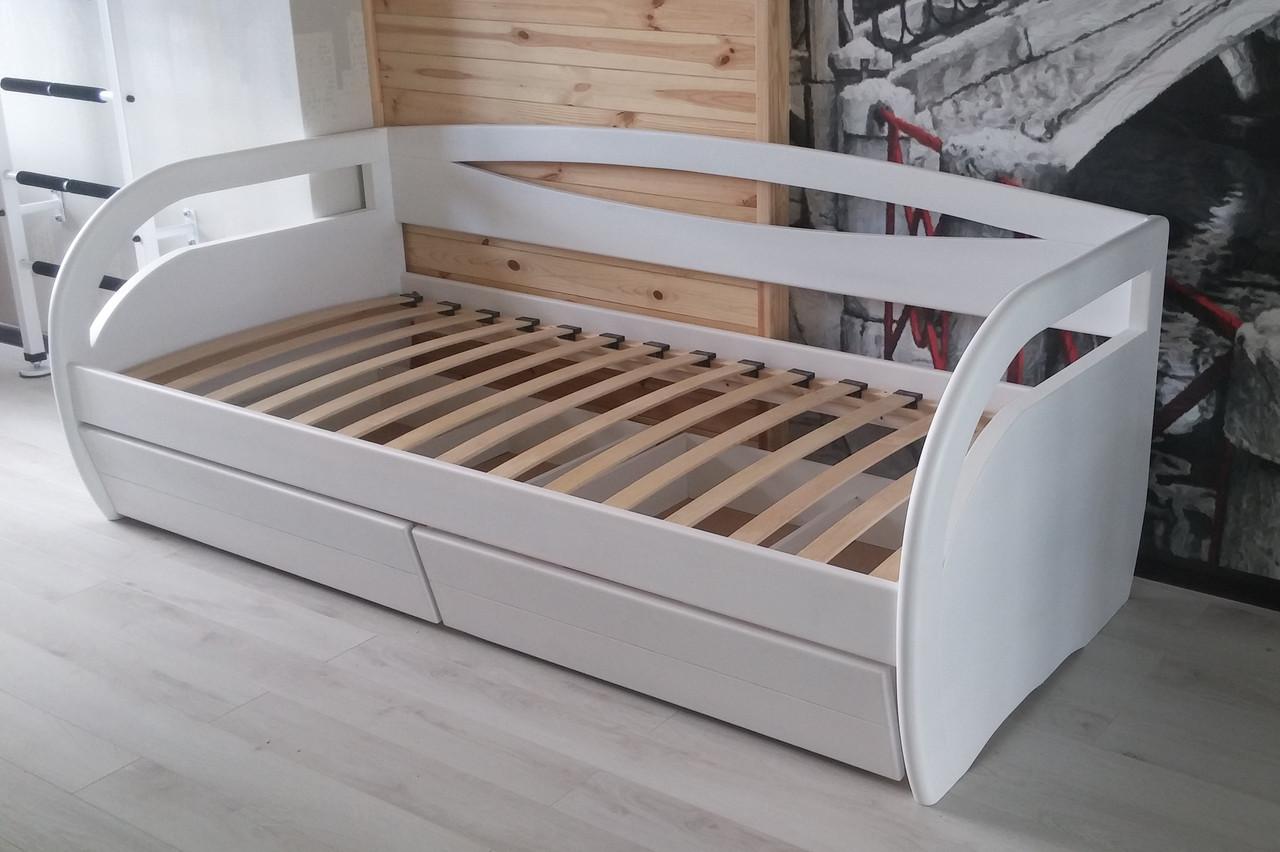 Деревянная кровать Бавария с ящиками