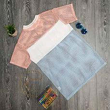 Яркая модная прикольная футболка в сеточку необычная Футболка сеточка Just do it розовая с голубым 2020, фото 2
