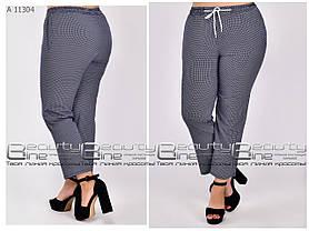 Летние женские брюки для полных женщин размер с 54 по 64