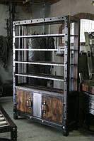 Книжный шкаф в стиле Industrial
