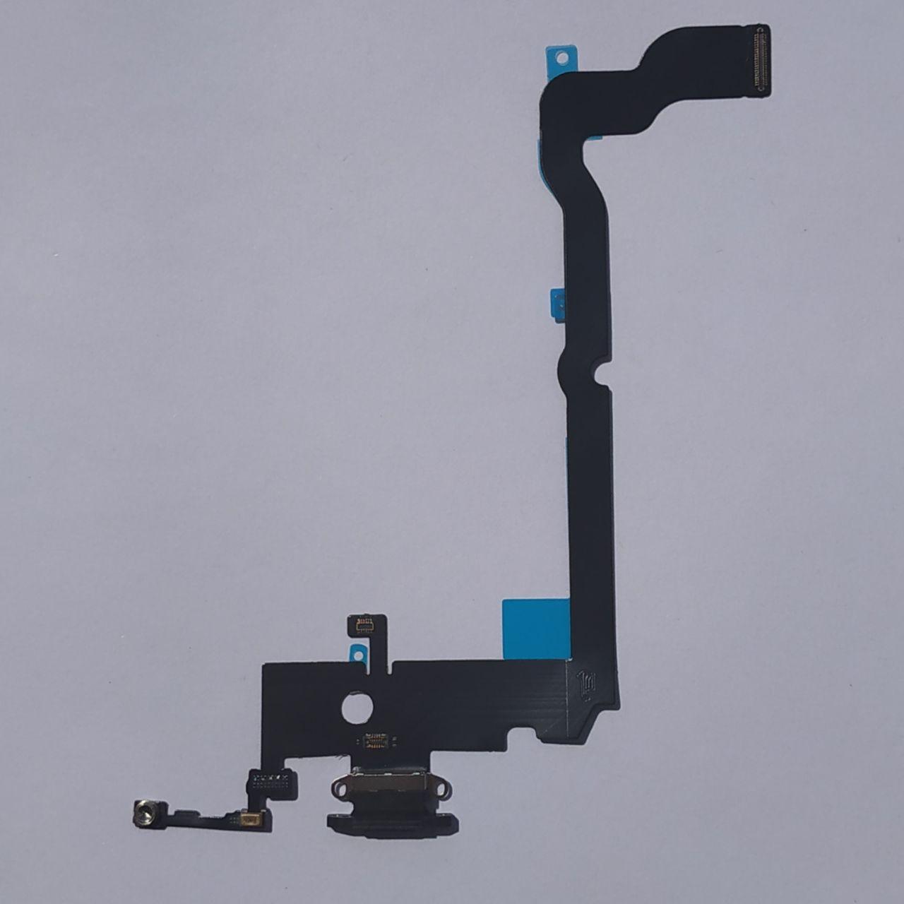 Шлейф Novacel для Apple iPhone XS Max коннектора навушників коннектора зарядки Black