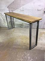 Барный стол длинный стиля Лофт