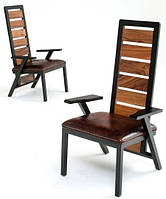 Кресло в стиле Loft с высокой спинкой