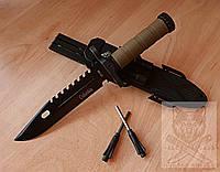 Нож с огнивом охотничий туристический тактический Columbia 2518В Ніж мисливський