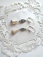 Свадебные серьги с жемчугом, фото 1