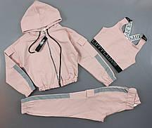 {есть:134,140,146,152} Комплект для девочек, Артикул: TL0706-розовый