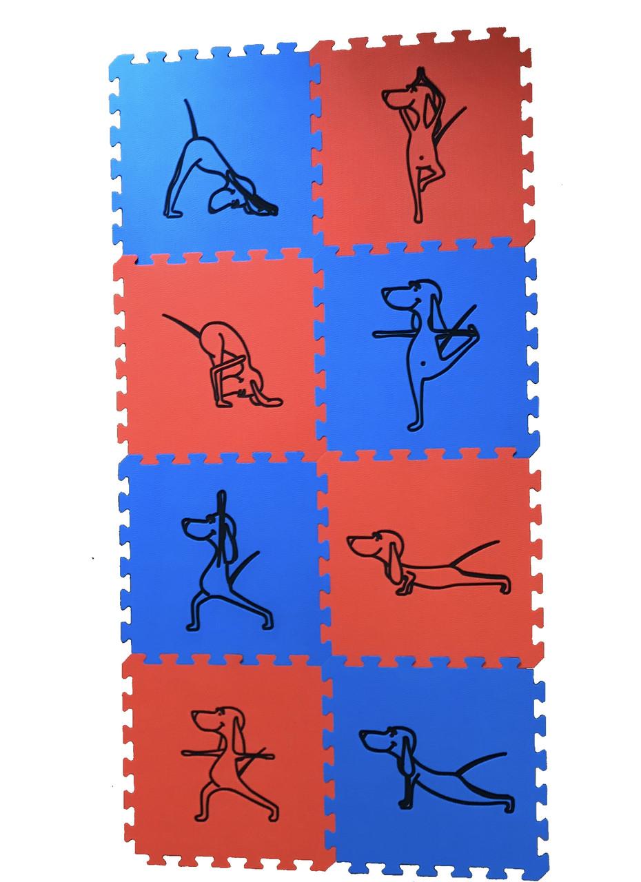 Коврик-пазл Happy Dog PollyMat 180 х 90 см - 8 пазлов (красно-синий)