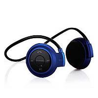 Беспроводная гарнитура 3в1 bluetooth-наушники, MP3-плеер, FM радио (синий)