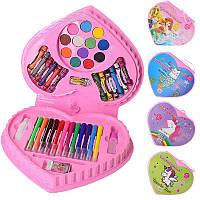 Набор для творчества MK 3918-3, акварельные краски, фломастеры, карандаши