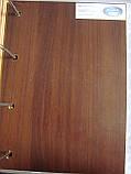 Межкомнатная дверь  Бора Экошпон с матовым стеклом и рисунком, цвет орех 3D, фото 2