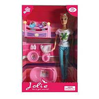 Кукла K369-5,29см, пупс 2шт, набор для купания