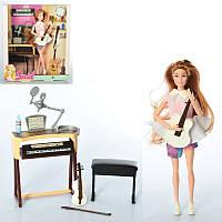 Кукла 7727-B1, 29см, шарнирная, стол, музыкальные инструменты, собачка